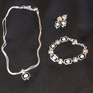 Brighton necklace, bracelet, earring set